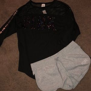 Victoria secret bling top and short 💕❤️ large new